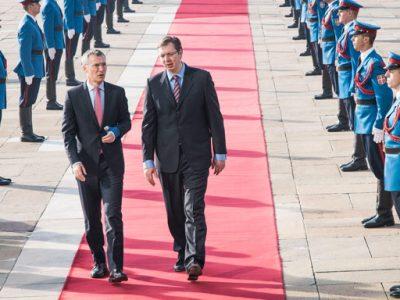 NATO Secretary General Jens Stoltenberg and Prime Minister of Serbia Aleksandar Vučić (Belgrade, November 2015)
